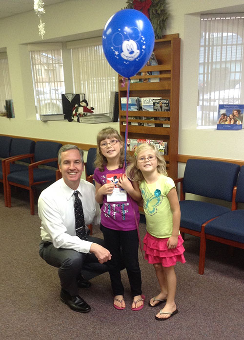 Dr Stormberg and two young patients